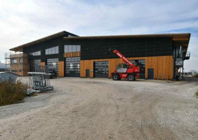 iQ3-Cellulose Dämmung für die Werkhalle Holzbau Glass GmbH